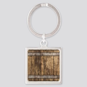 The Backyard Fence Square Keychain