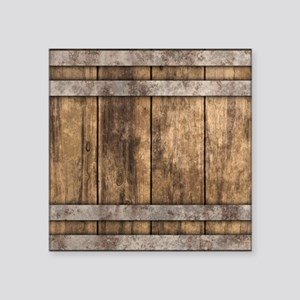 "The Backyard Fence Square Sticker 3"" x 3"""