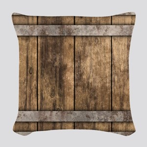The Backyard Fence Woven Throw Pillow