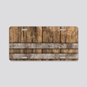 The Backyard Fence Aluminum License Plate