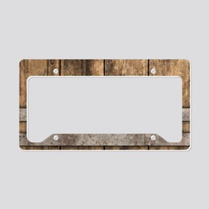 The Backyard Fence License Plate Holder