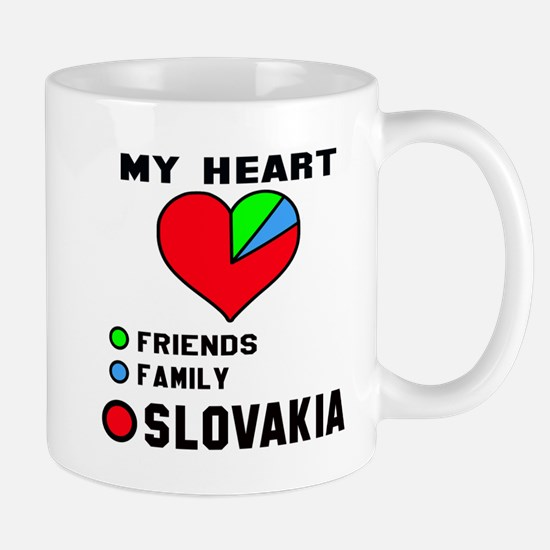 My Heart Friends, Family and Slo Mug