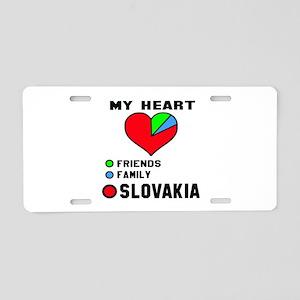 My Heart Friends, Family an Aluminum License Plate