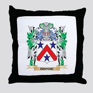 Brodie Coat of Arms - Family Crest Throw Pillow
