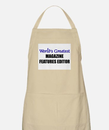 Worlds Greatest MAGAZINE FEATURES EDITOR BBQ Apron