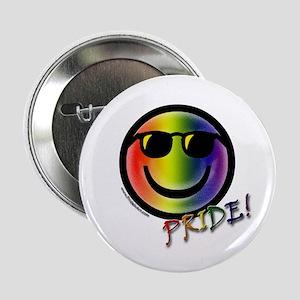 Gay Pride Smiley #3 Button