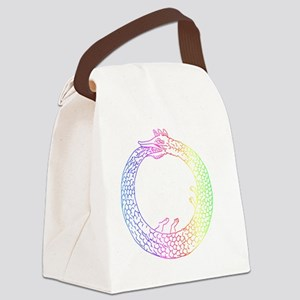 Rainbow Ouroboros Canvas Lunch Bag