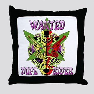 Dope Rider: Wanted Throw Pillow