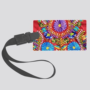 Mexican Embroidery  Large Luggage Tag