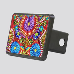 Mexican Embroidery  Rectangular Hitch Cover