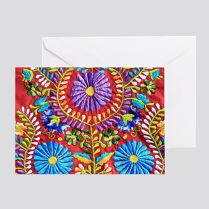Mexican greeting cards cafepress mexican embroidery greeting card m4hsunfo