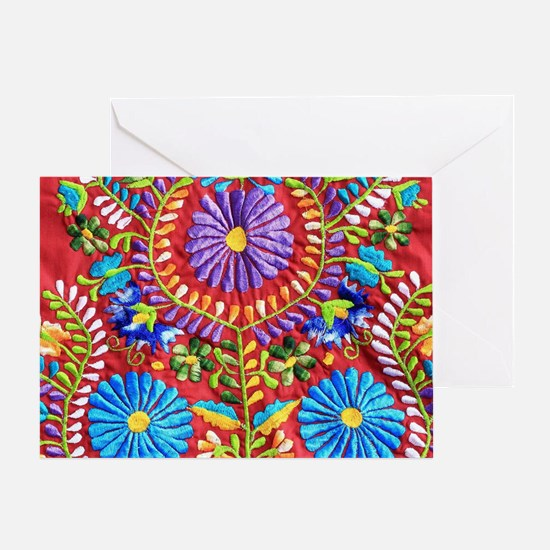 Mexican Embroidery  Greeting Card