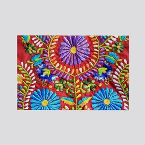 Mexican Embroidery  Rectangle Magnet