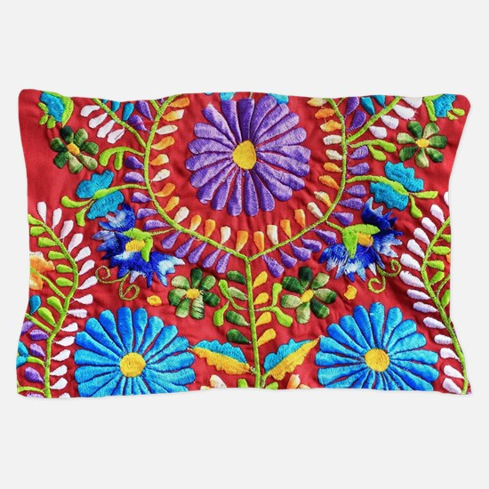 Mexican Embroidery  Pillow Case
