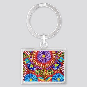 Mexican Embroidery  Landscape Keychain