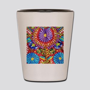 Mexican Embroidery Shot Glass