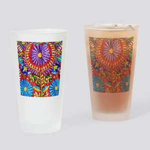 Mexican Embroidery Drinking Glass