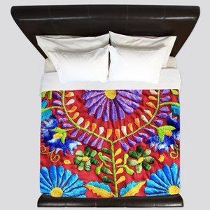 Mexican Embroidery King Duvet