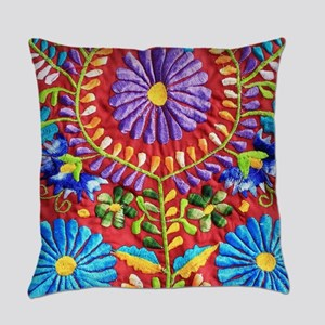 Mexican Embroidery Everyday Pillow