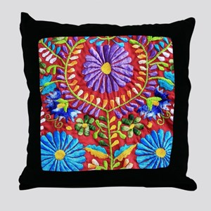 Mexican Embroidery Throw Pillow