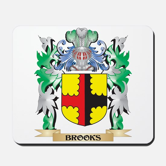 Brooks Coat of Arms - Family Crest Mousepad