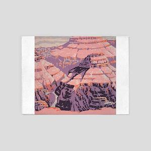 Vintage Grand Canyon WPA Poster 5'x7'Area Rug