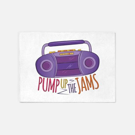 Pump Up Jams 5'x7'Area Rug