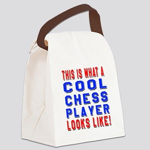 Chess Player Looks Like Canvas Lunch Bag