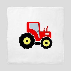 Red tractor Queen Duvet