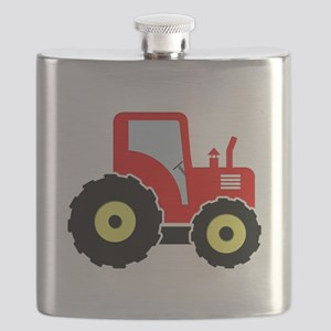 Red tractor Flask
