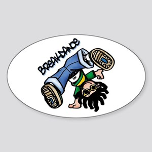 Breakdance Oval Sticker
