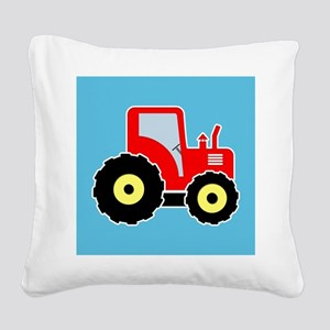 Red toy tractor Square Canvas Pillow