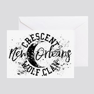 Crescent Wolf Clan The Originals Greeting Cards