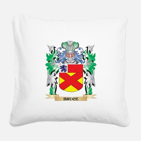 Bruce Coat of Arms - Family C Square Canvas Pillow