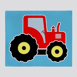 Red toy tractor Throw Blanket
