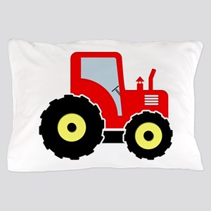 Red toy tractor Pillow Case