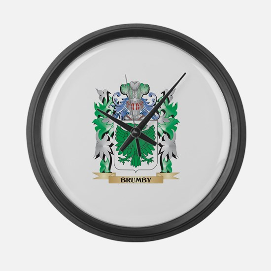 Brumby Coat of Arms - Family Cres Large Wall Clock