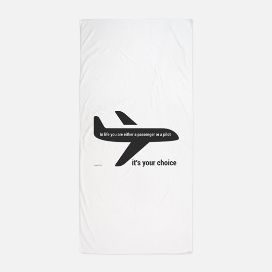 Passenger or pilot Beach Towel