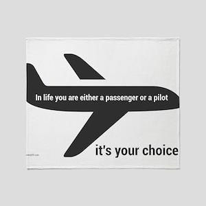 Passenger or pilot Throw Blanket