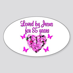 BLESSED 85TH Sticker (Oval)