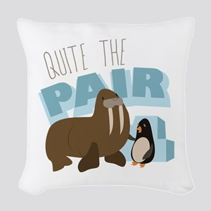 Quite The Pair Woven Throw Pillow