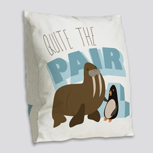 Quite The Pair Burlap Throw Pillow