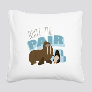 Quite The Pair Square Canvas Pillow