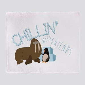 Chillin With Friends Throw Blanket