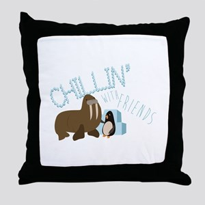 Chillin With Friends Throw Pillow