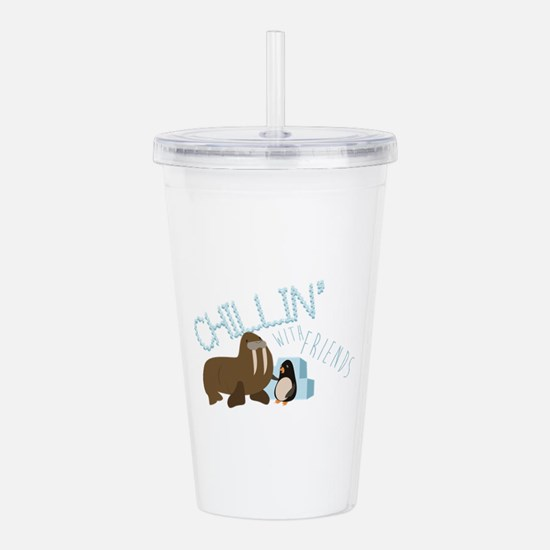 Chillin With Friends Acrylic Double-wall Tumbler