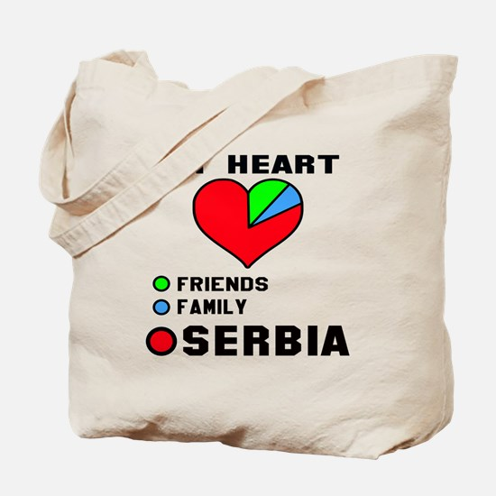 My Heart Friends, Family and Serbia Tote Bag