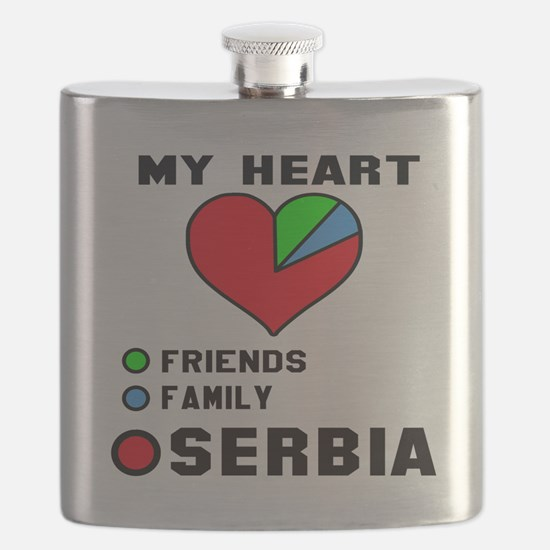 My Heart Friends, Family and Serbia Flask