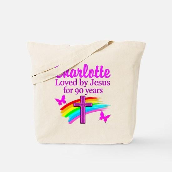 CHRISTIAN 90TH Tote Bag