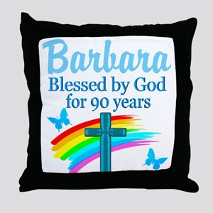 CHRISTIAN 90TH Throw Pillow